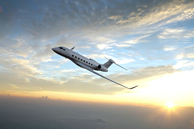 Gulfstream G650ER Private Jet Sunset