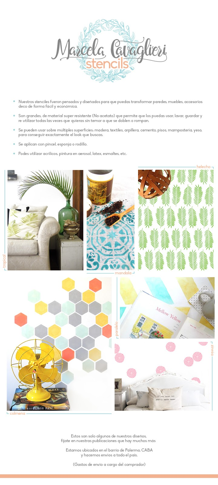 stencils, deco, muebles, paredes, mandala, pintura