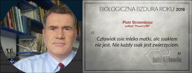 Piotr Strzembosz Biologiczna Bzdura Roku 2018 ssak