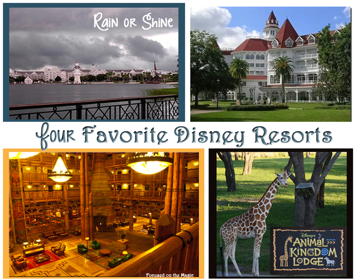 Yacht Club, Grand Floridian, Wilderness Lodge, Animal Kingdom Lodge