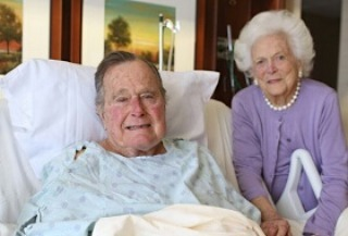 Again former US president, George H.W. Bush get hospitalized