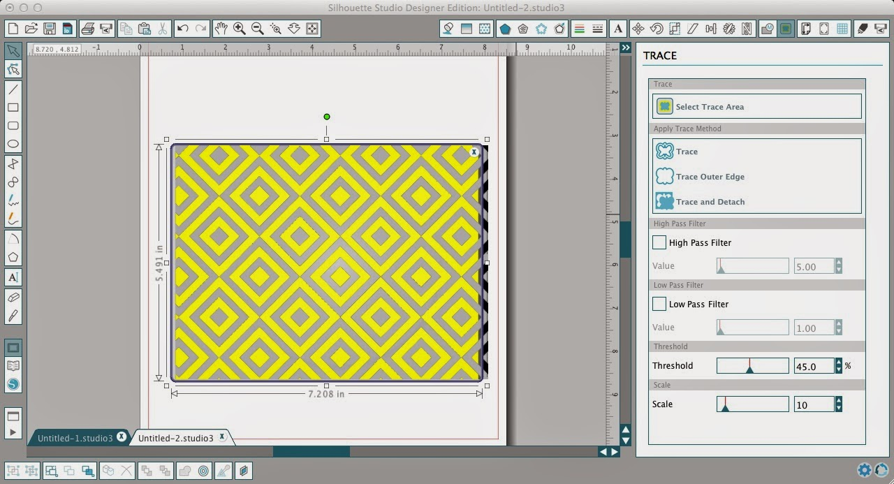 Patterns, cut files, Silhouette Studio, Silhouette tutorial, trace