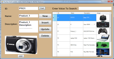 show, find, add, edit, remove, images from mysql database using c#
