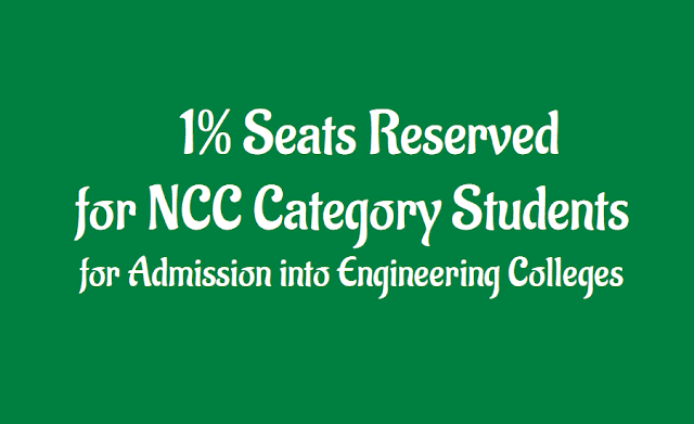 ap go.23 one percent/1% seats reserved for ncc category for admission into engineering colleges, other categories under ncc, ncc go.23, national cadet corps, admission into engineering colleges, reservation of 1% seats under n.c.c category