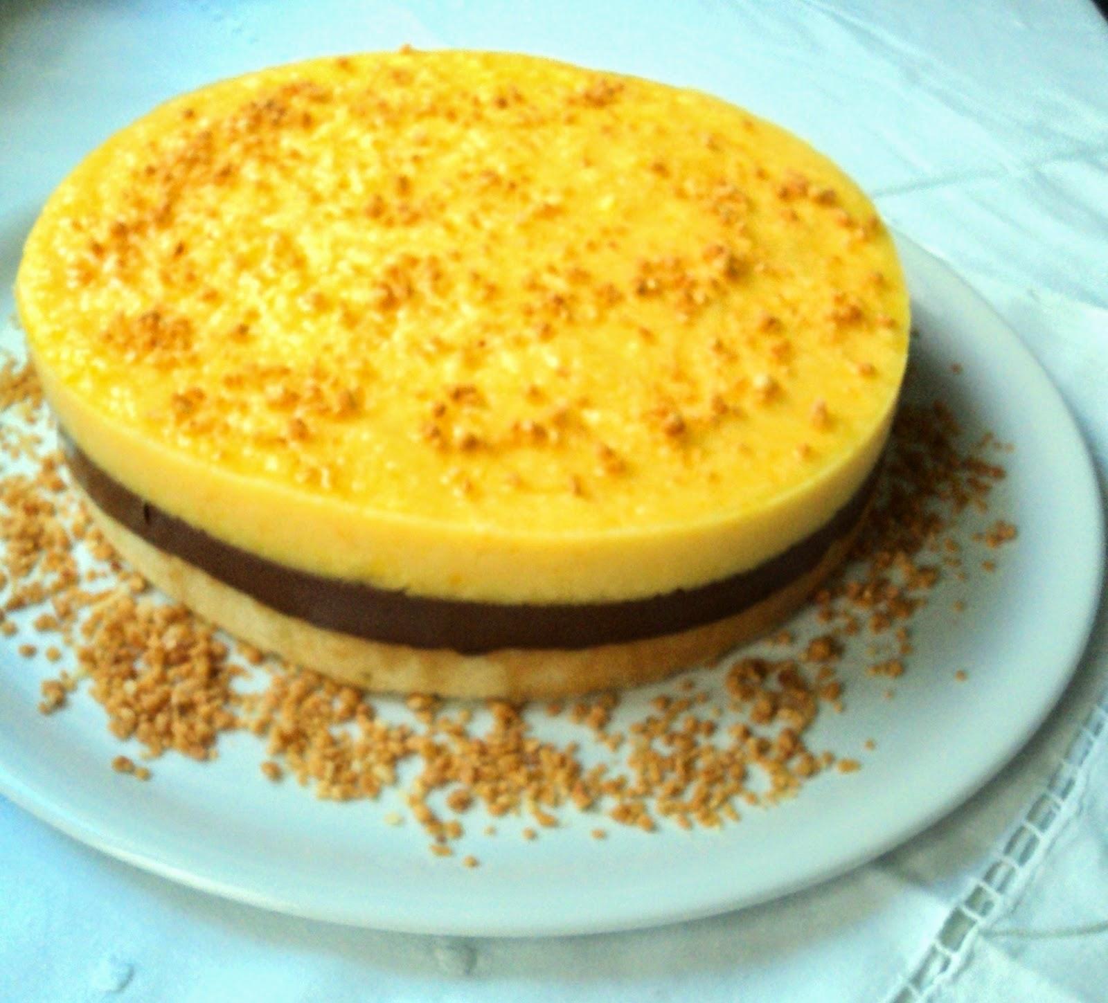 Semifrío de chocolate y naranja receta casera