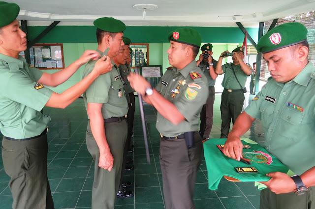 Dandim 0402OKI-OI Letkol Kav Dwi Irbaya Sandra SSos melakukan serah terima jabatan di jajaran Kodim 0402 OKI-OI.