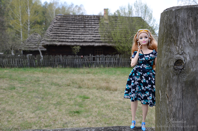 Spring flower dress for Barbie doll