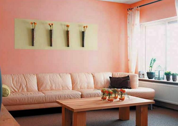 Cat  Ruang Tamu Warna  Oren  Homes Decoration Ideas