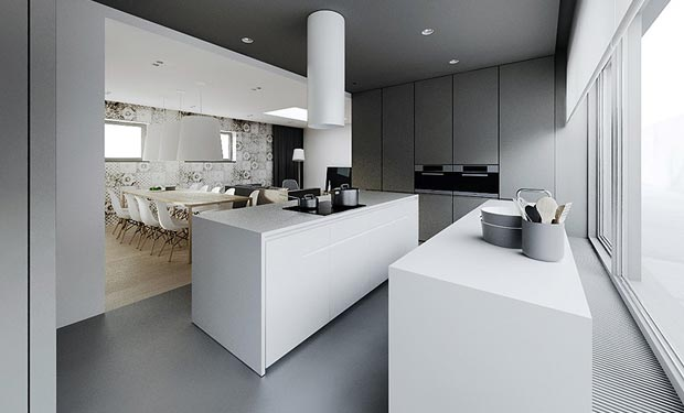 Hogares frescos moderno dise o interior minimalista plano - Diseno interior minimalista ...