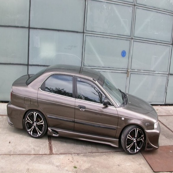 Modifikasi mobil sedan civic lama klasik mazda soluna ...