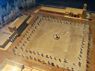 Maquete da Plaza Mayor no Museo Área Fundacional, Cidade de Mendoza