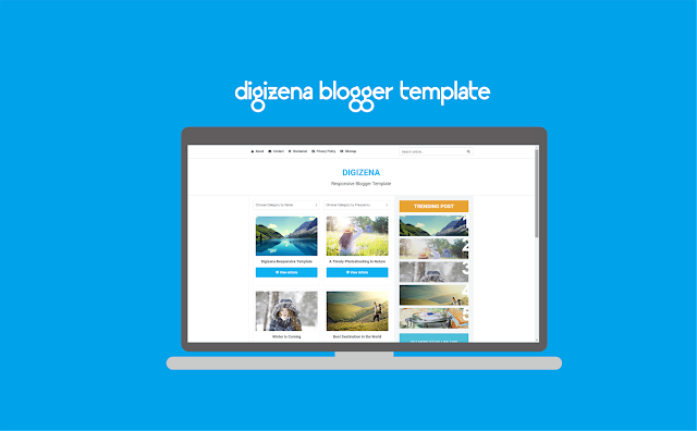 Digizena Blogger Template Responsive Free Download