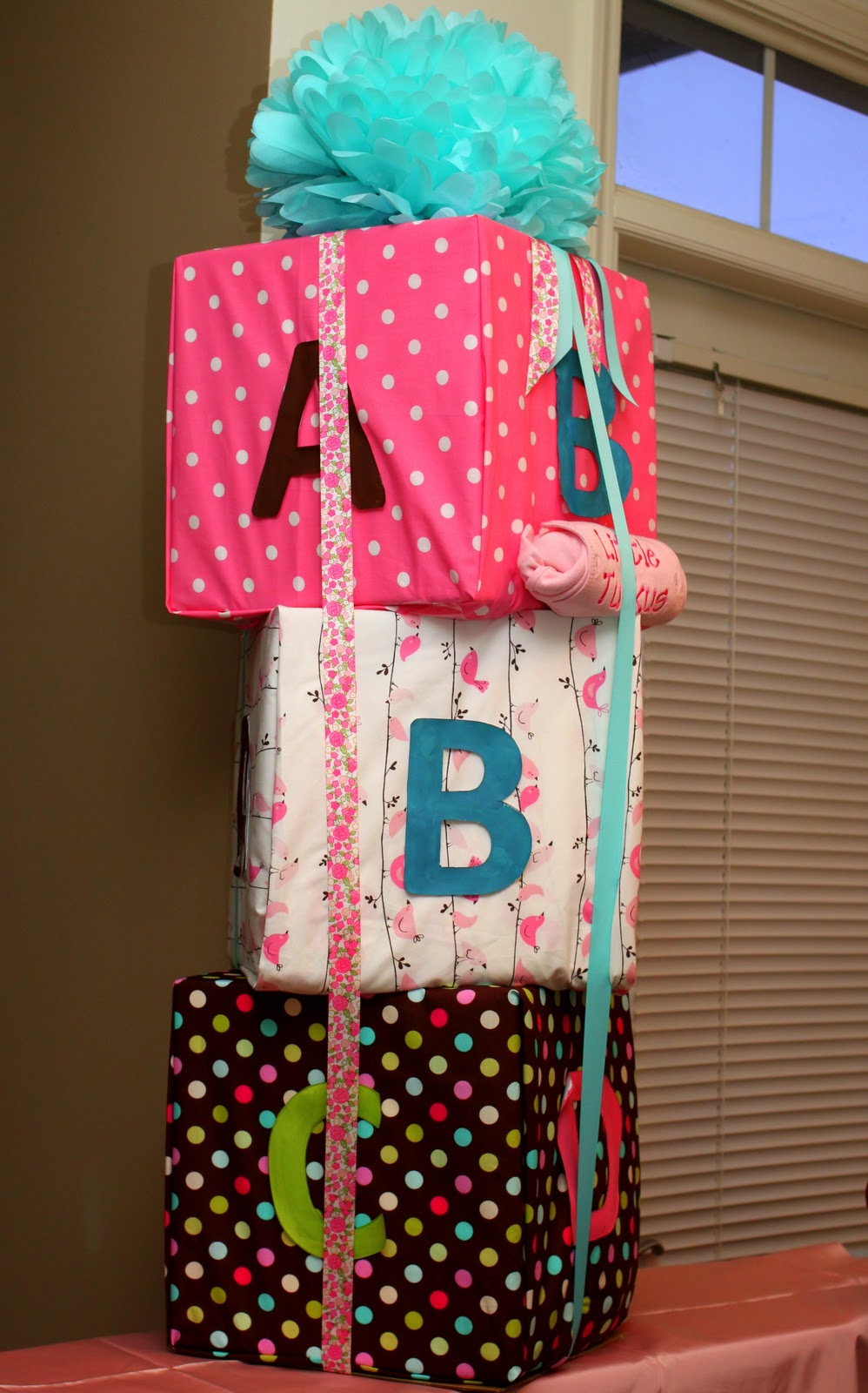 Doo Dah Baby Blocks A Baby Shower Gift With No Wrapping Paper