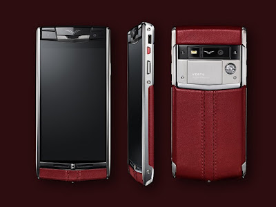 Front, Side and Back view of a Vertu Phone