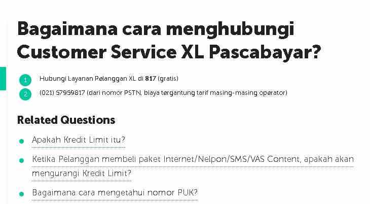 Cara Menghubungi Call Center Xl 817 Untuk Minta Bantuan Atas Masalah Jaringan Koneksi Internet Android Cara Cek Sisa Paket