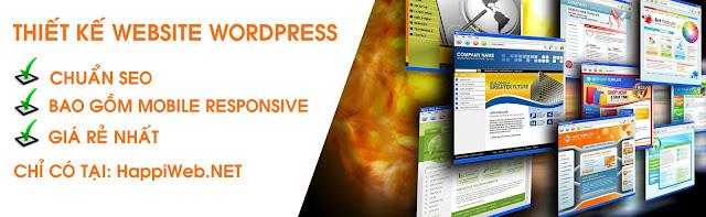 nhận làm website wordpress giá rẻ nhất