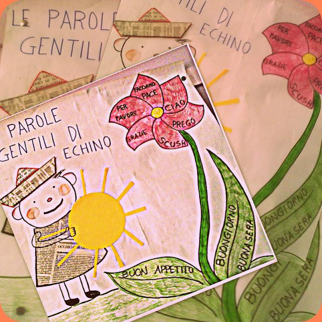 """Conosciuto La scuola in cartella: Omaggio ad ECHINO: """" LE PAROLE GENTILI"""" PF81"""