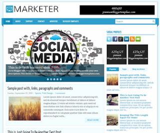 Marketer Blogger Template