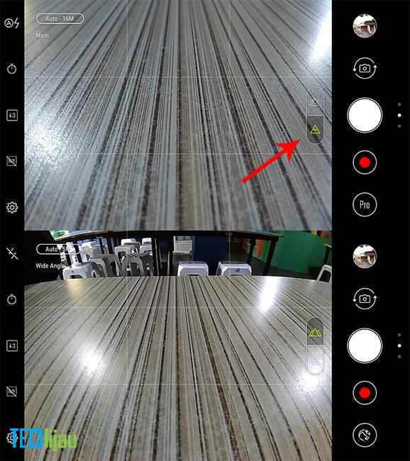 Tampilan kamer ASUS Zenfone 4 Max Pro
