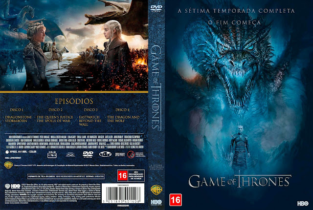 Capa DVD Game of Thrones Sétima Temporada [Exclusiva]