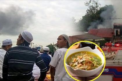 Saat Sholat 'Id, Warga Dikejutkan Dengan Kebakaran, Ternyata Dari Rumah Warga Yang Masak Soto