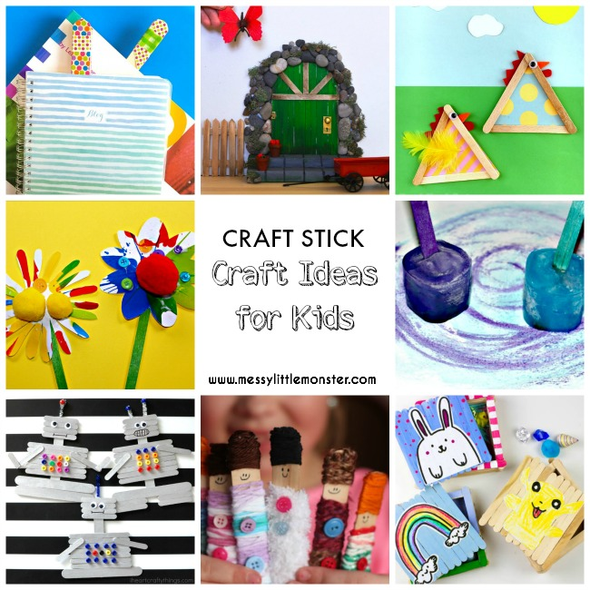 20+ of the best craft stick (lollipop stick / popsicle stick) art and craft idea for kids.