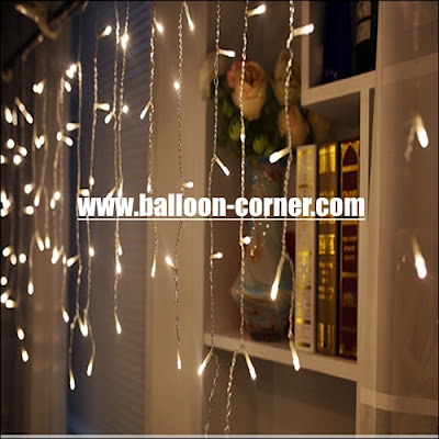 White LED Curtain Lights / Lampu Tirai LED Putih