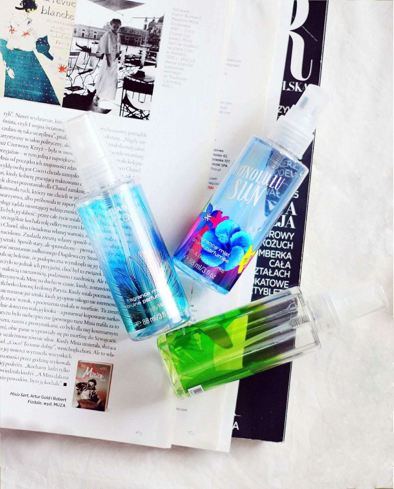 Bath & Body Works mgiełki, Sea Island Cotton, Honolulu Sun, White Citrus