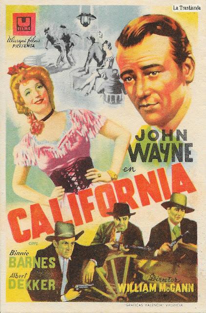 California - Programa de Cine - John Wayne - Binnie Barnes