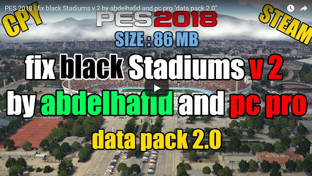 PES 2018 Black Stadium FIX V2 & PC Pro DLC 2.0