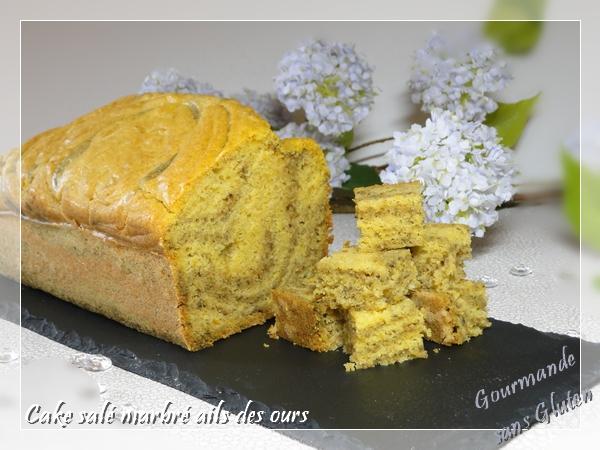 Cake salé marbré ails des ours et carotte-beaufort sans gluten