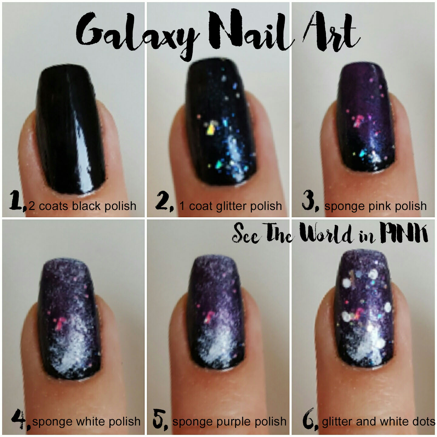 Manicure Monday - Galaxy Nail Art Tutorial! | See the World in PINK