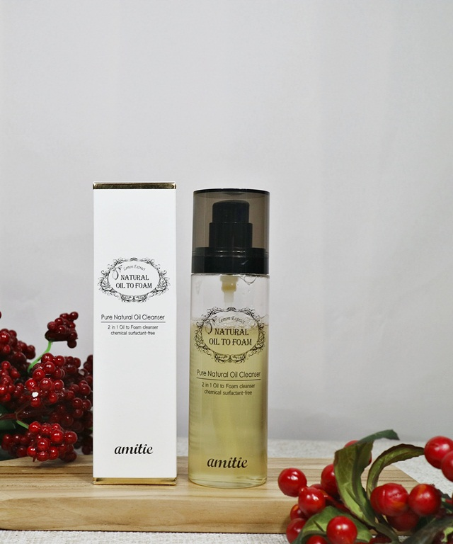 review amittie natural oil to foam cleanser