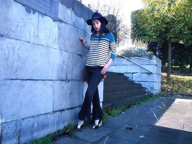fashion, moda, look, outfit, blog, blogger, walking, penny, lane, streetstyle, style, estilo, trendy, rock, boho, chic, cool, casual, ropa, cloth, garment, inspiration, fashionblogger, art, photo, photograph, Avilés, asturias, zara, jeans,hat