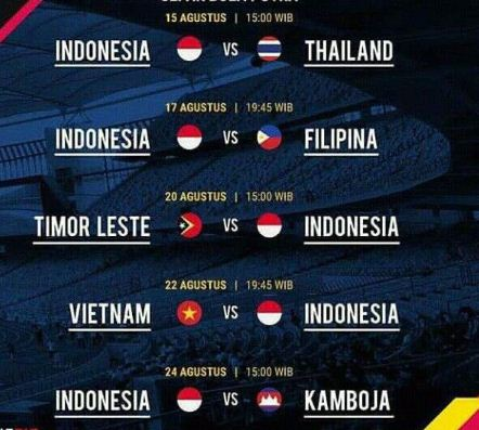 Jadwal Lengkap Pertandingan Timnas U-22 di SEA Games 2017