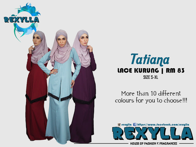 rexylla, lace kurung, tatiana collection