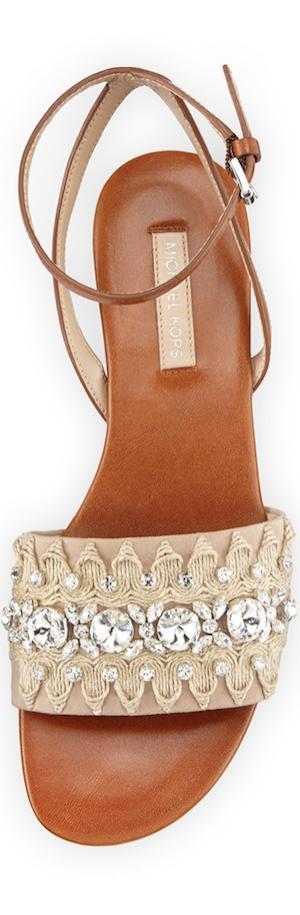 Michael Kors  Hadden Embellished Flat Sandal