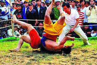 The martial spirit in Lieu Doi wrestling festival