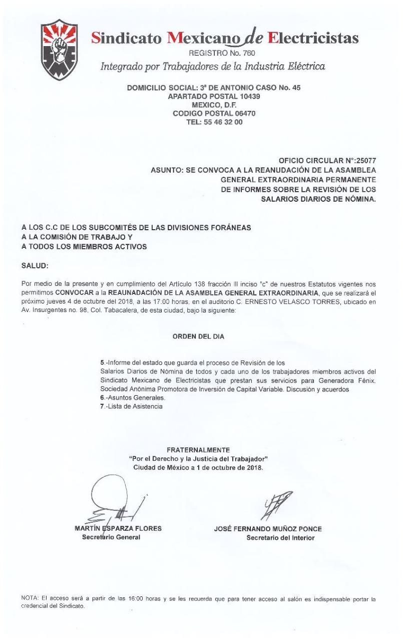 Grupo de Ingenieros: REANUDACIÓN ASAMBLEA GENERAL EXTRAORDINARIA ...