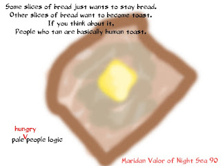 Human toast, Pale Hungry People Logic. Night Sea 90.