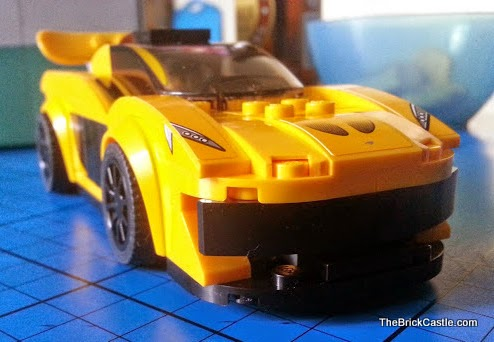 McLaren P1 LEGO vehicle set 75909 review Yellow Racing Car
