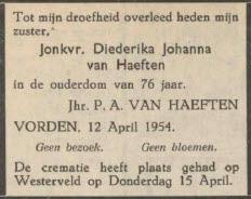 Diederika Johanna van Haeften
