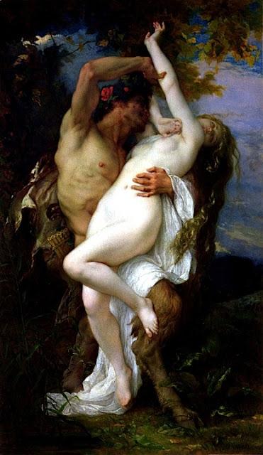 Alexandre Cabanel - Ninfa rapita da un fauno - sex paintings