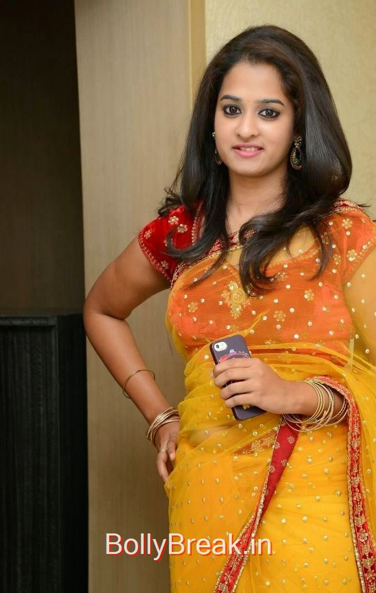 Nanditha images, Actress Nanditha Yellow Saree Navel pics in HD from Ram Leela Movie