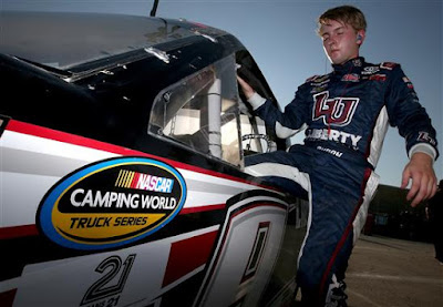 William Byron, driver of the #9 Liberty University Toyota, during practice. #nascar