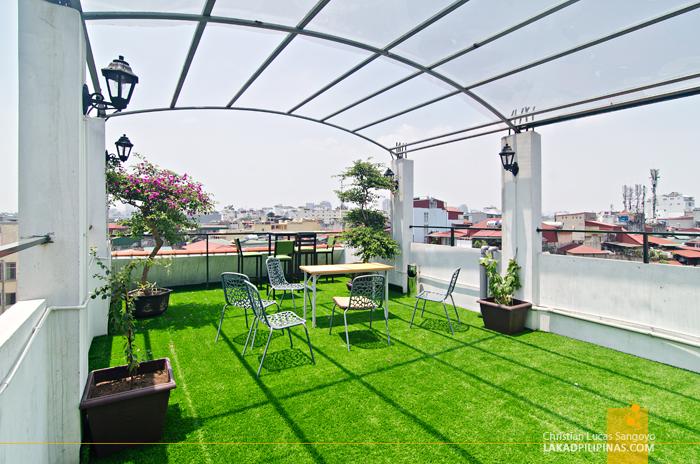 Cocoon Inn Hostel Hanoi Roof Deck Garden
