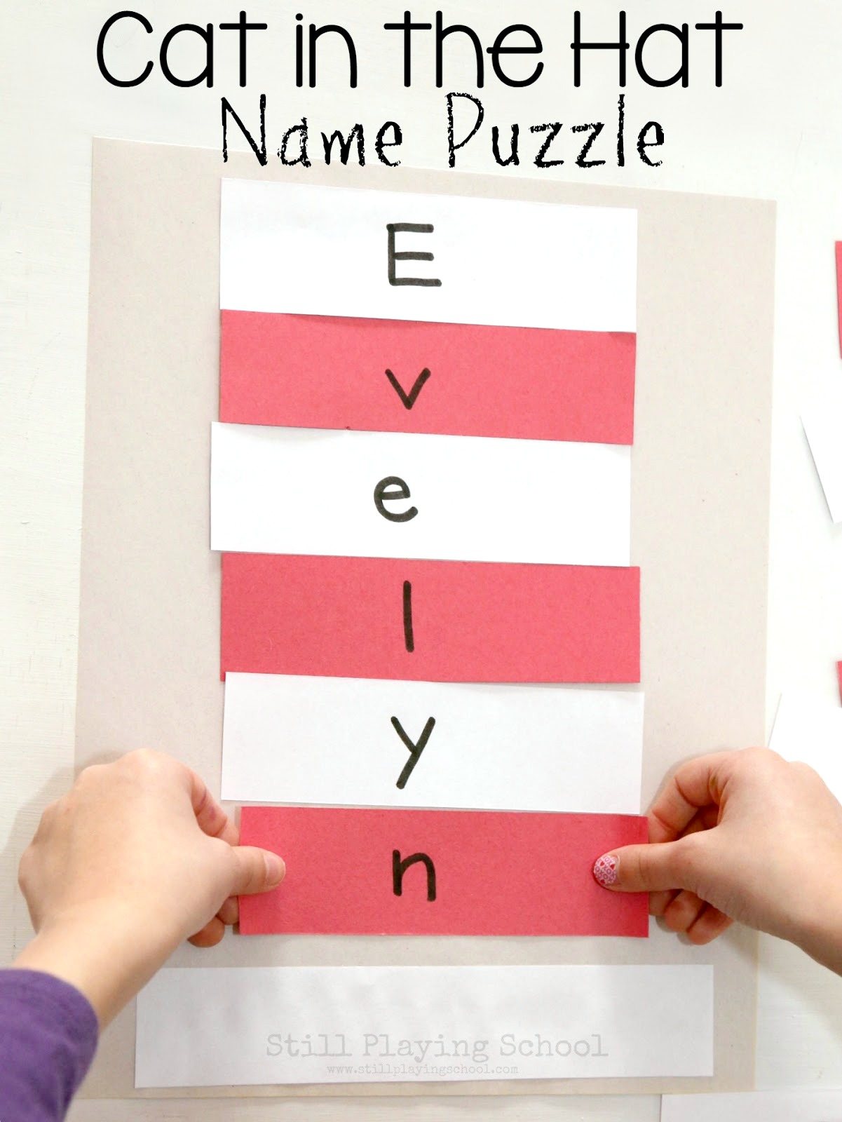 Dr Seuss Cat In The Hat Name Puzzle Craft