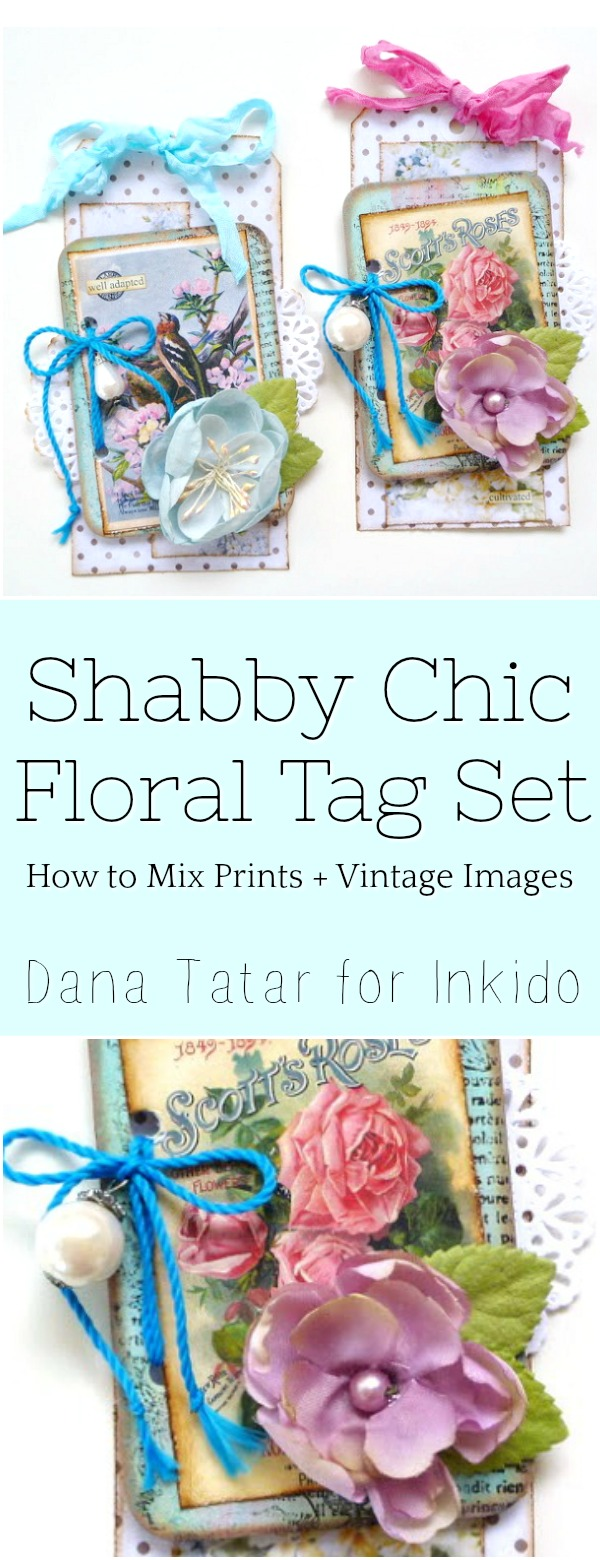 Shabby Chic Floral Tag Set by Dana Tatar for Inkido
