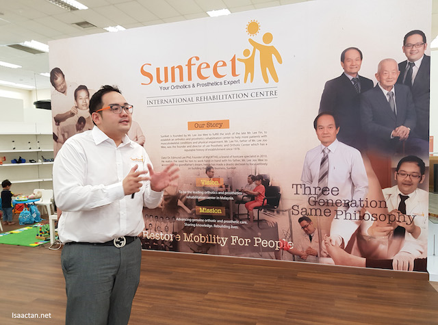 Dato Dr. Edmund Lee explaining to us about Sunfeet International