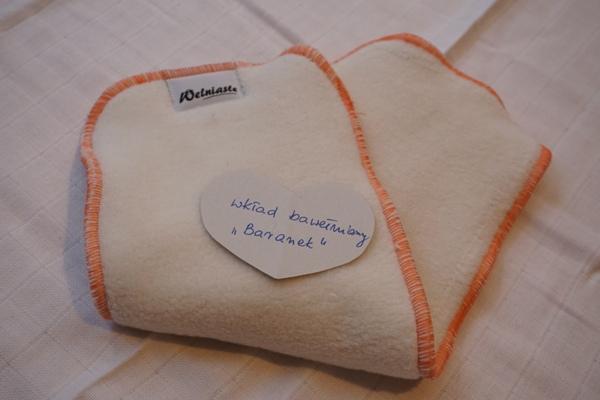 wkłady do pieluszek wielorazowych - bawełniany baranek